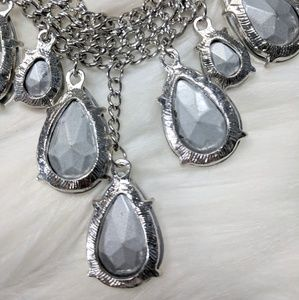Jewelry - Drop Crystal & Mesh Necklace